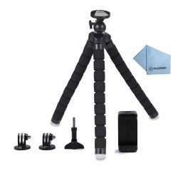 Phone Tripod, Rhodesy RT-01 Octopus Style Tripod Stand Holder for Camera, GoPro, iPhone, Smartphone with Clip